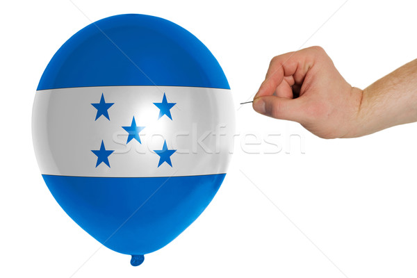 Bursting balloon colored in  national flag of honduras    Stock photo © vepar5
