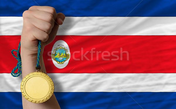 Aranyérem sport zászló nyertes tart sportok Stock fotó © vepar5