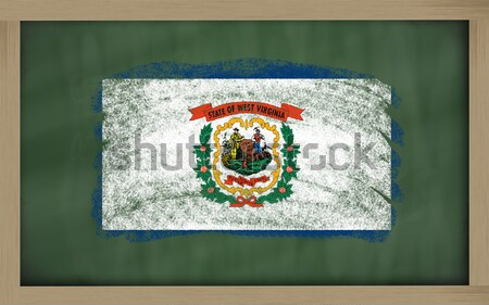 flag of US state of west virginia on blackboard painted with cha Stock photo © vepar5