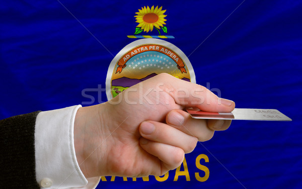 buying with credit card in us state of kansas Stock photo © vepar5