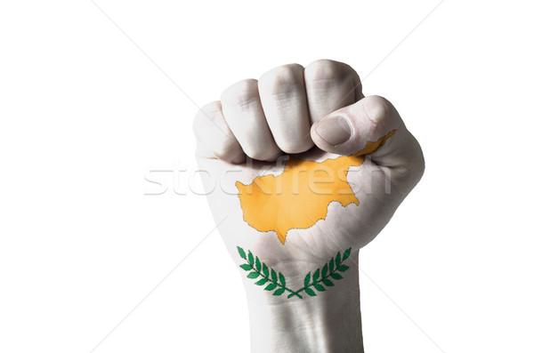 Puno pintado colores Chipre bandera bajo Foto stock © vepar5