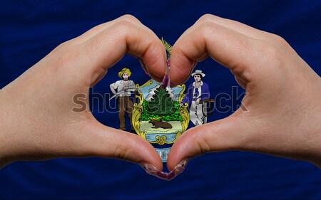 Coeur amour geste mains pavillon Kenya Photo stock © vepar5