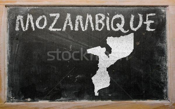 Contorno mappa Mozambico lavagna disegno Foto d'archivio © vepar5