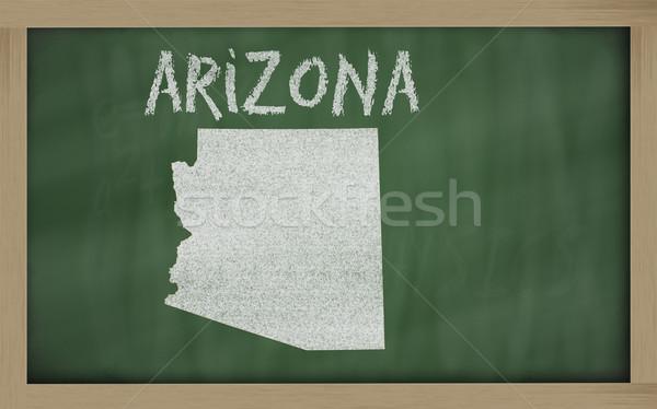 карта Аризона доске рисунок доске Сток-фото © vepar5