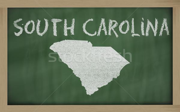 outline map of south carolina on blackboard  Stock photo © vepar5