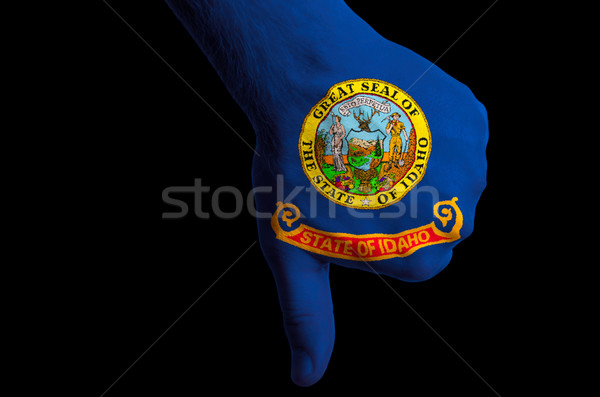 idaho us state flag thumbs down gesture for failure made with ha Stock photo © vepar5