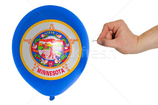 шаре флаг американский Миннесота политику Сток-фото © vepar5