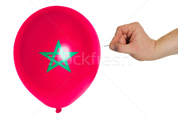 Bursting balloon colored in  national flag of morocco    Stock photo © vepar5
