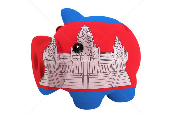 Malac gazdag bank színek zászló Kambodzsa Stock fotó © vepar5