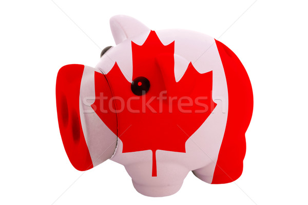 piggy rich bank in colors  national flag of canada     for savin Stock photo © vepar5
