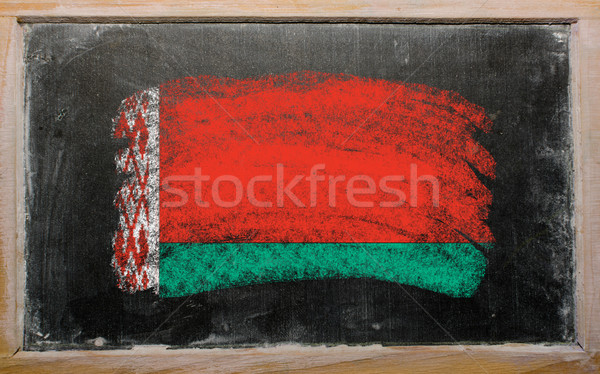 flag of Belarus on blackboard painted with chalk   Stock photo © vepar5