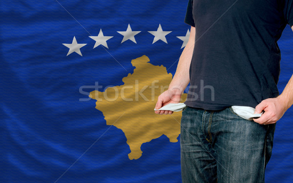 recession impact on young man and society in kosovo Stock photo © vepar5