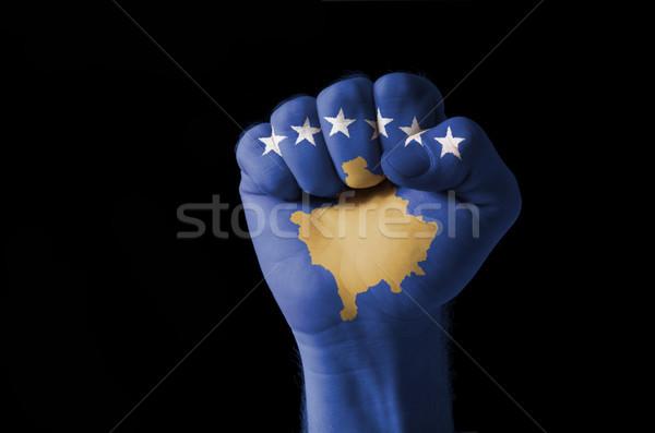 Puno pintado colores Kosovo bandera bajo Foto stock © vepar5
