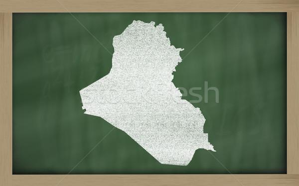 Mapa Iraque lousa desenho Foto stock © vepar5