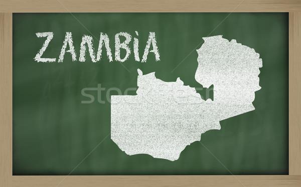 карта Замбия доске рисунок Сток-фото © vepar5