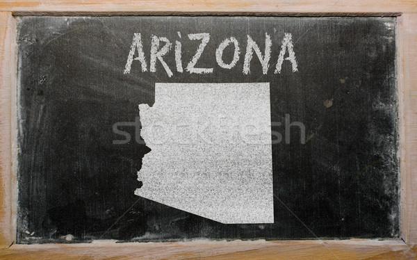 Pokaż Arizona tablicy rysunek amerykański Zdjęcia stock © vepar5
