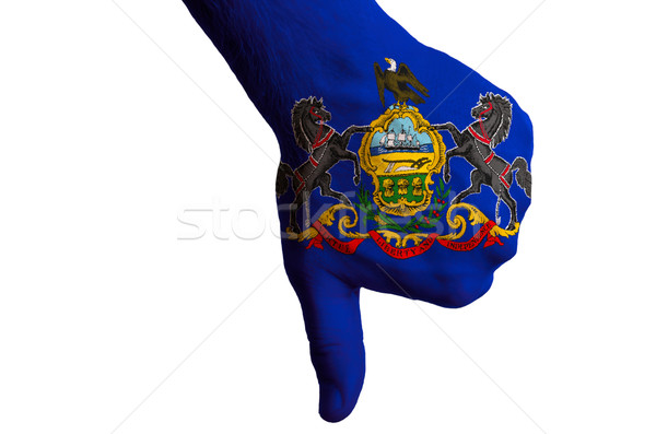Pennsylvania vlag beneden gebaar mislukking Stockfoto © vepar5
