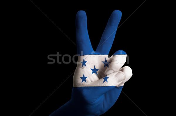 Honduras bandiera due dito up gesto Foto d'archivio © vepar5
