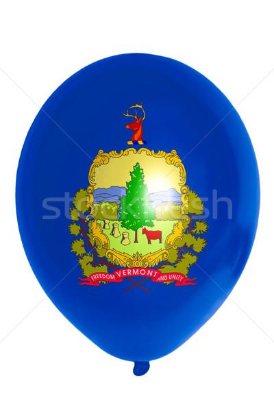 Balon renkli bayrak amerikan Vermont mutlu Stok fotoğraf © vepar5