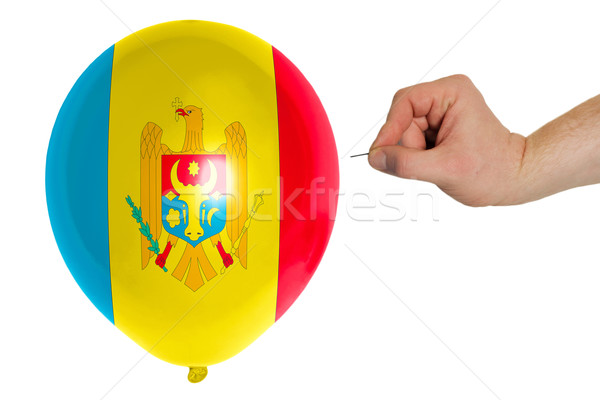 Bursting balloon colored in  national flag of moldova    Stock photo © vepar5