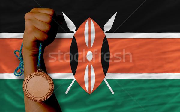 青銅 金メダル スポーツ フラグ ケニア ストックフォト © vepar5