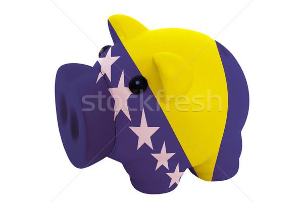 piggy rich bank in colors  national flag of bosnia herzegovina   Stock photo © vepar5