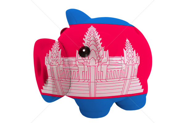 Rijke bank kleuren vlag Cambodja Stockfoto © vepar5
