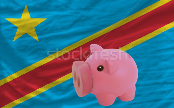 piggy rich bank and  national flag of  of congo    Stock photo © vepar5