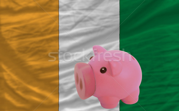 piggy rich bank and  national flag of cote ivore    Stock photo © vepar5