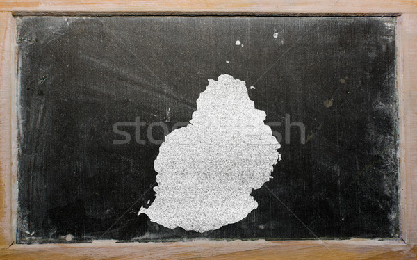 outline map of mauritius on blackboard stock photo © Vedran ...