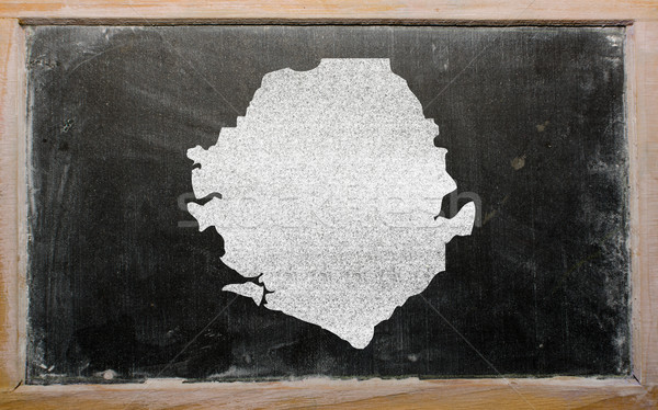 outline map of sierra leone on blackboard  Stock photo © vepar5