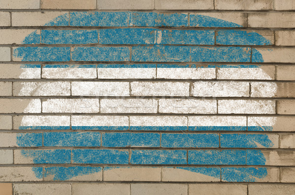 Bandeira El Salvador grunge parede de tijolos pintado giz Foto stock © vepar5