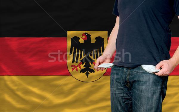 Stockfoto: Recessie · jonge · man · samenleving · Duitsland · arme · man