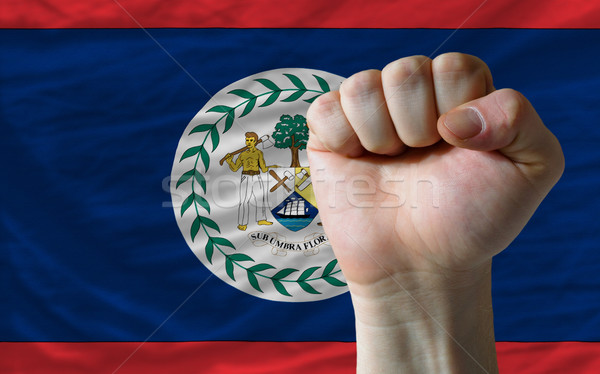 ököl Belize zászló erő teljes egész Stock fotó © vepar5