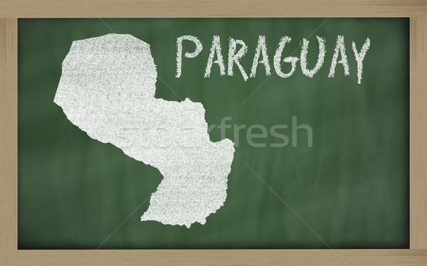 Contorno mappa Paraguay lavagna disegno Foto d'archivio © vepar5