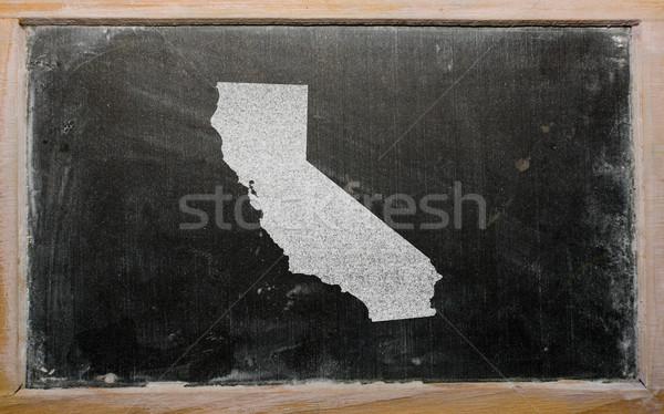 Stockfoto: Schets · kaart · Californië · Blackboard · tekening · amerikaanse