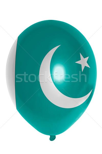 Balon renkli bayrak Pakistan mutlu seyahat Stok fotoğraf © vepar5