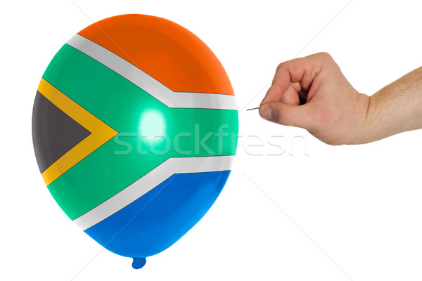 Bursting balloon colored in  national flag of south africa    Stock photo © vepar5
