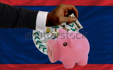 piggy rich bank and  national flag of kenya    Stock photo © vepar5