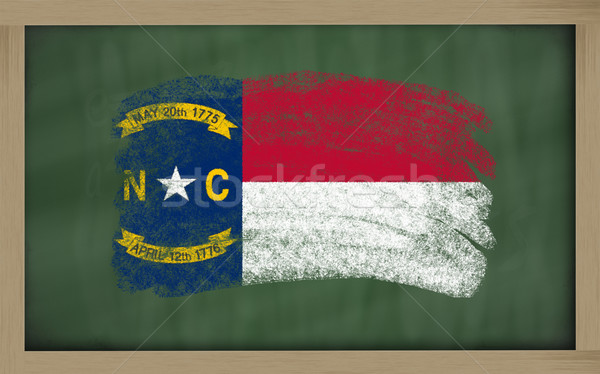 flag of us state of north carolina on blackboard painted with ch Stock photo © vepar5