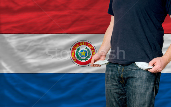 recession impact on young man and society in paraguay Stock photo © vepar5