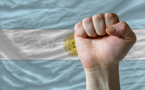 кулаком Аргентина флаг власти полный все Сток-фото © vepar5