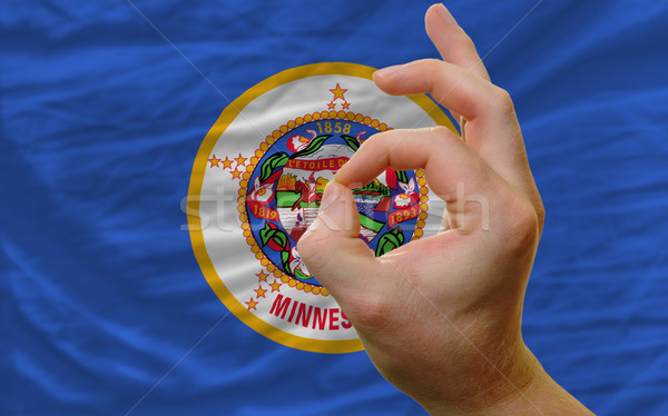 ok gesture in front of minnesota us state flag Stock photo © vepar5