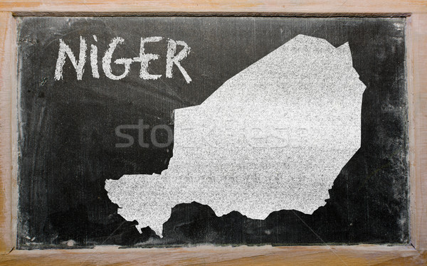 карта Нигер доске рисунок Сток-фото © vepar5