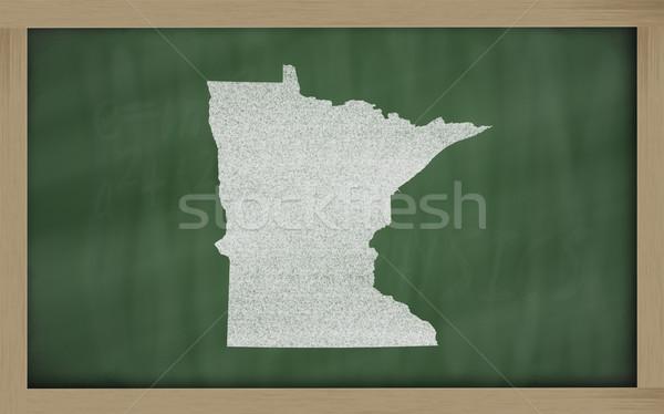 карта Миннесота доске рисунок доске Сток-фото © vepar5