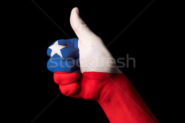 chile national flag thumb up gesture for excellence and achievem Stock photo © vepar5