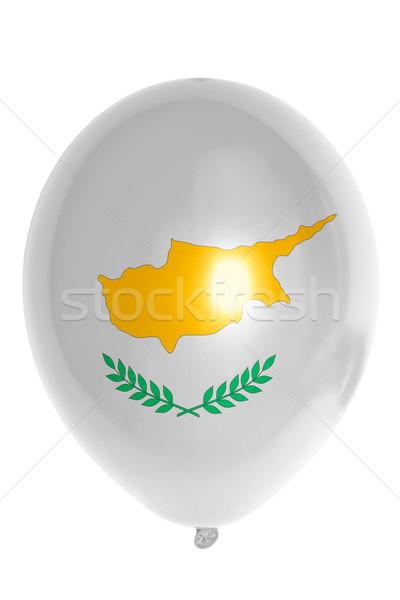 Léggömb színes zászló Ciprus boldog utazás Stock fotó © vepar5