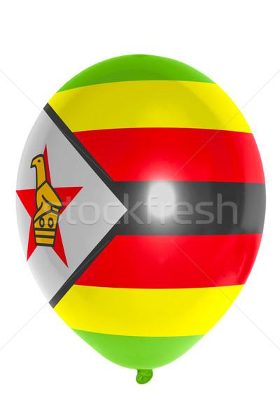 Léggömb színes zászló Zimbabwe boldog utazás Stock fotó © vepar5