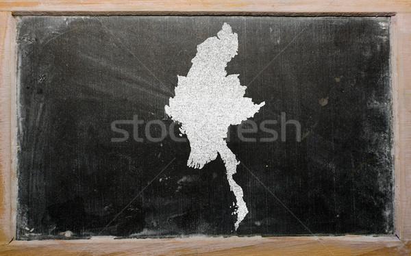 Mapa Myanmar pizarra dibujo Foto stock © vepar5