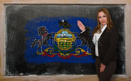flag of US state of pennsylvania on blackboard painted with chal Stock photo © vepar5
